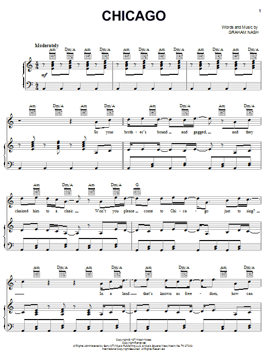 Chicago (Piano, Vocal & Guitar (Right-Hand Melody))