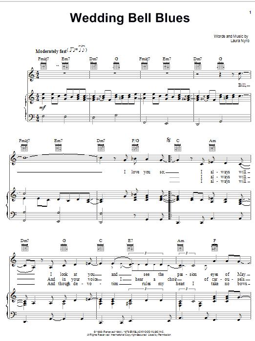sheet preview wedding bell blues