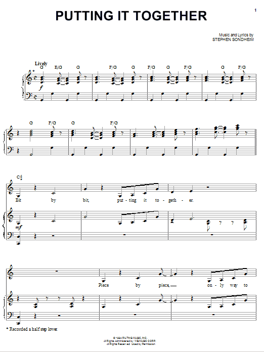Putting It Together Sheet Music