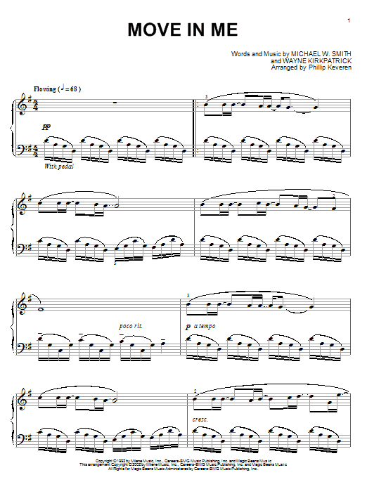 Move In Me Sheet Music