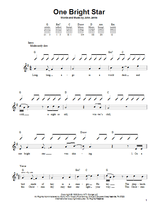 One Bright Star (Easy Guitar)