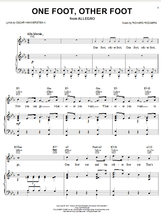 One Foot, Other Foot (from Allegro) Sheet Music