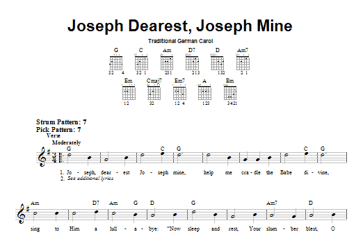 Joseph Dearest, Joseph Mine Sheet Music