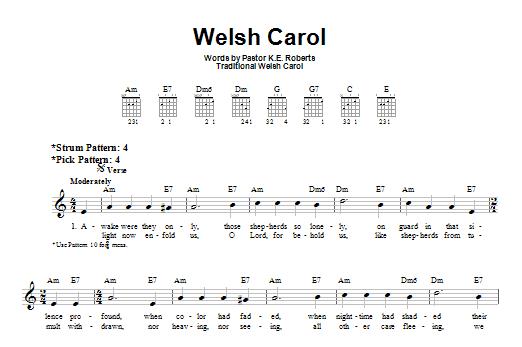Welsh Carol Sheet Music