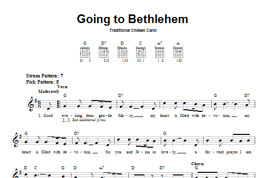 Going To Bethlehem Sheet Music