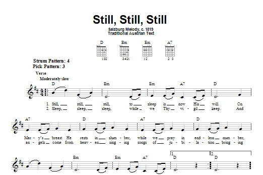 Tablature guitare Still, Still, Still de Traditional - Tablature guitare facile