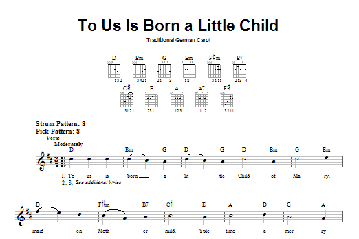 To Us Is Born A Little Child Sheet Music