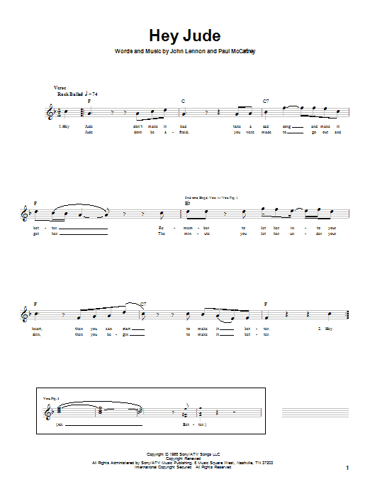 Mandolin mandolin tabs beatles : Hey Jude Bass Guitar Tab by The Beatles (Bass Guitar Tab – 21020)