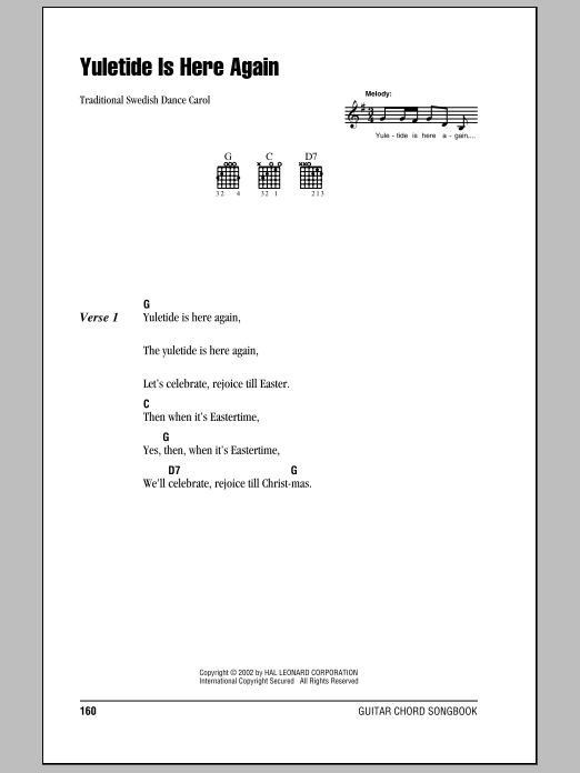 Yuletide Is Here Again Sheet Music