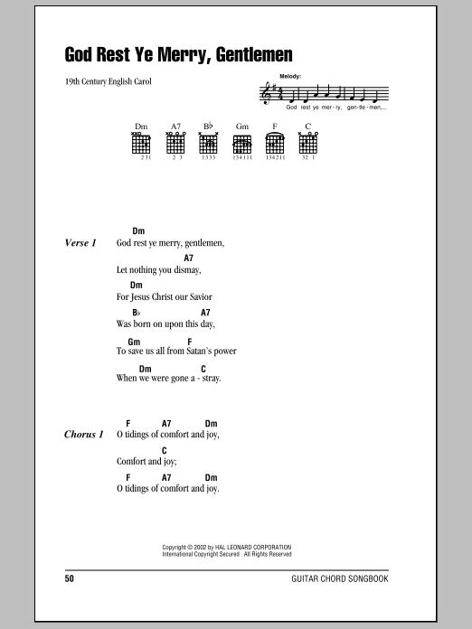 God Rest Ye Merry, Gentlemen sheet music by 19th Century English ...