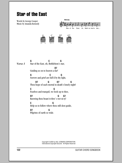 Star Of The East Sheet Music