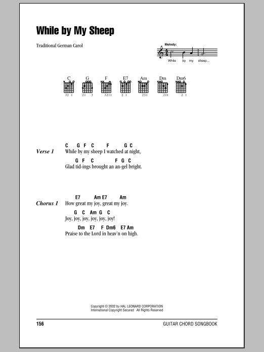 While By My Sheep Sheet Music