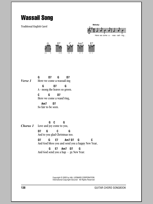 Wassail Song Sheet Music