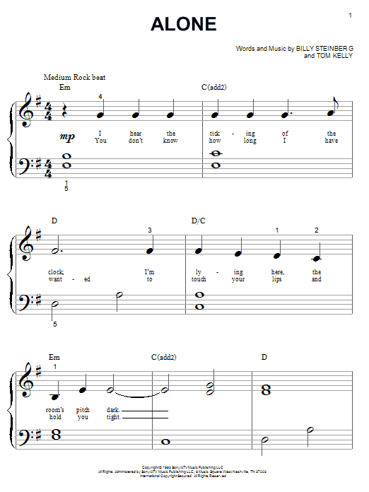 Alone Sheet Music
