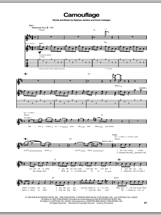 Camouflage (Guitar Tab)