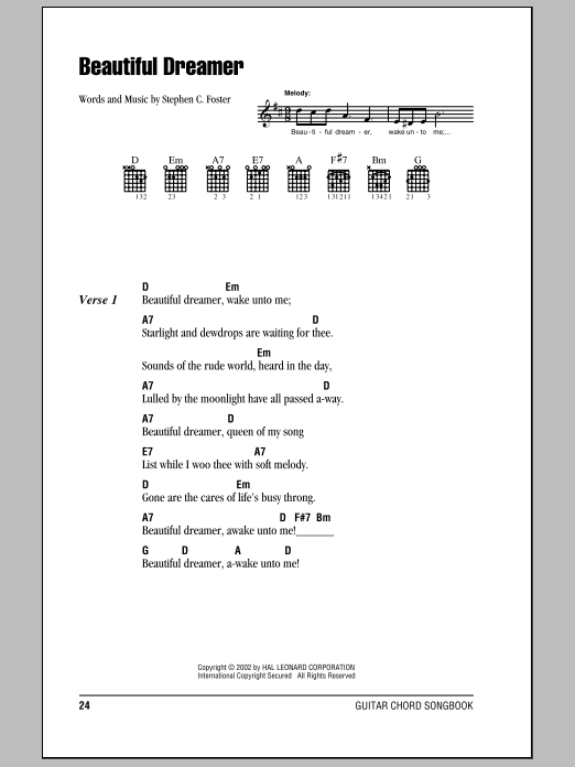 Beautiful Dreamer Sheet Music
