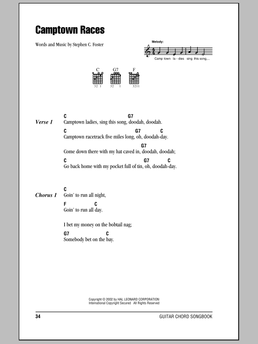 The Camptown Races Sheet Music
