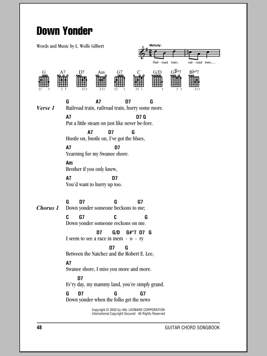 Down Yonder Sheet Music