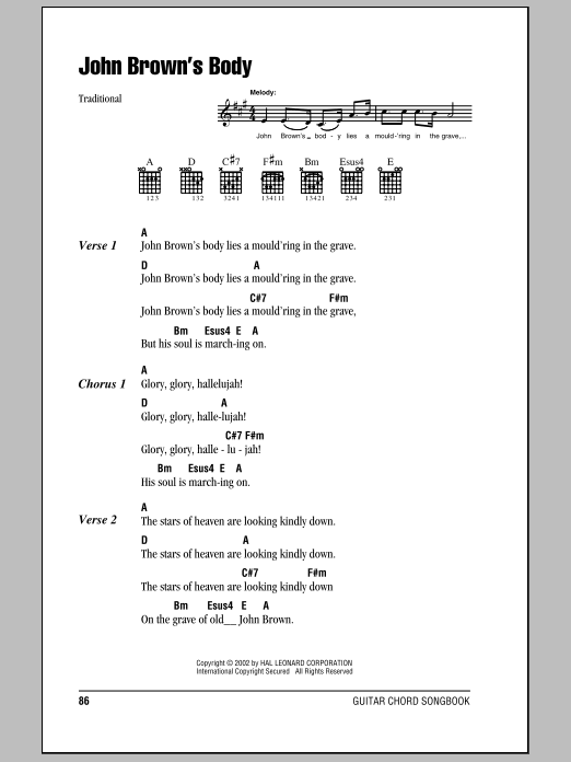 John Brown's Body | Sheet Music Direct