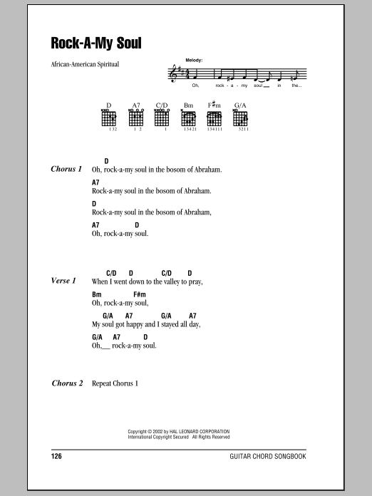 Rock-A-My Soul | Sheet Music Direct