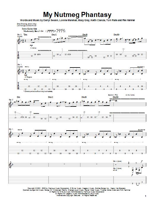 My Nutmeg Phantasy (Guitar Tab)