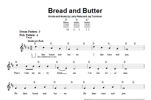 Bread And Butter Sheet Music