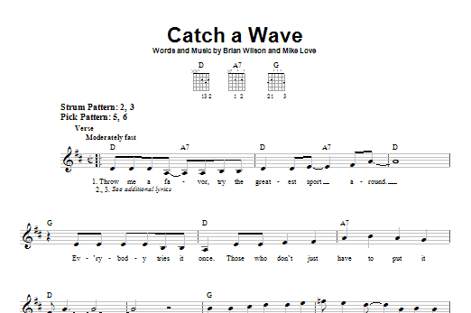Catch A Wave Sheet Music