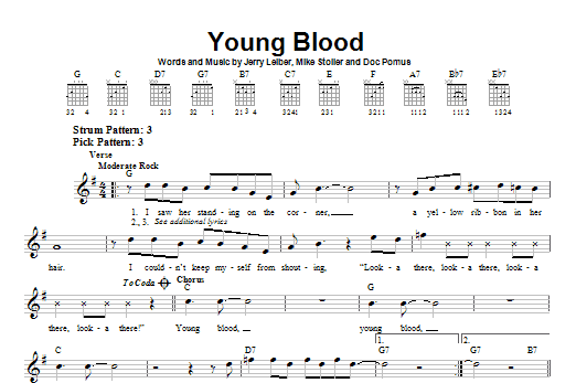 Young Blood Sheet Music