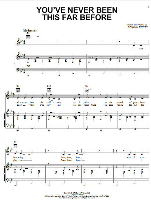 You've Never Been This Far Before (Piano, Vocal & Guitar (Right-Hand Melody))