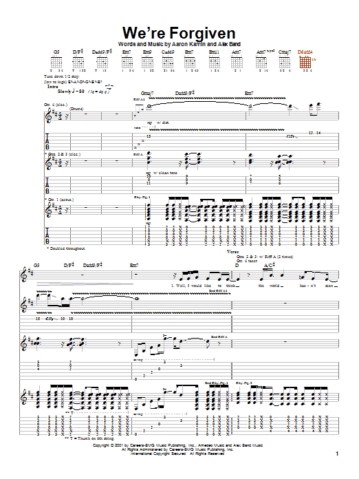 We're Forgiven (Guitar Tab)