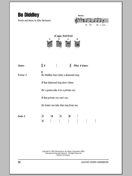Bo Diddley Sheet Music