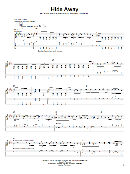 Hide Away (Guitar Tab)