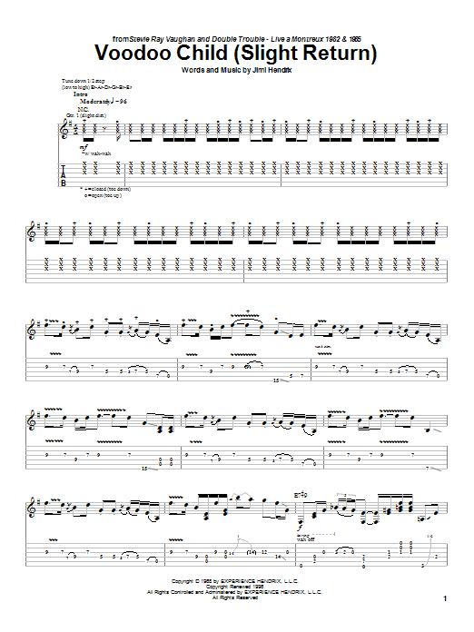 Voodoo Child (Slight Return) (Guitar Tab)