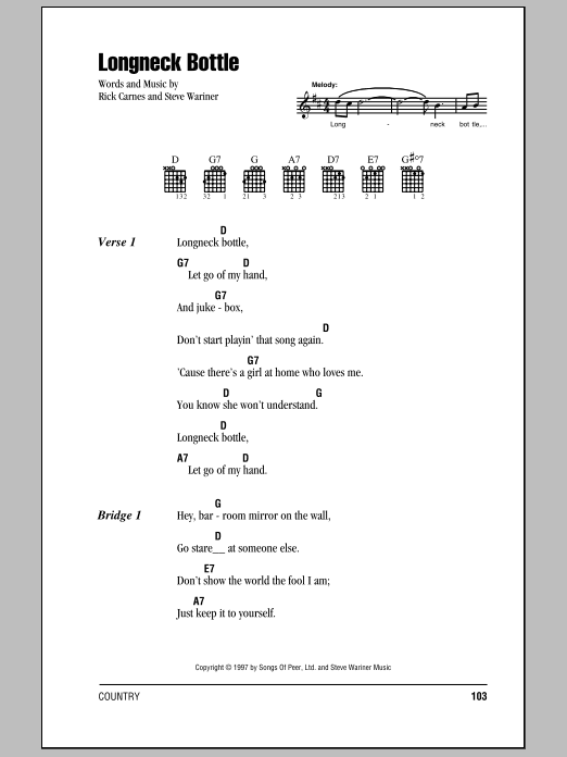Longneck Bottle Sheet Music
