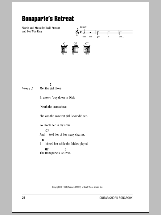 Bonaparte's Retreat Sheet Music
