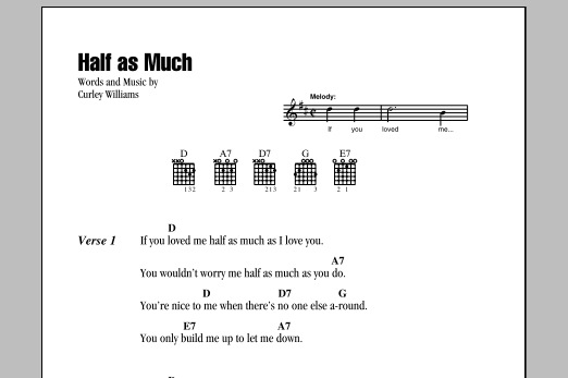 Half As Much (Guitar Chords/Lyrics)