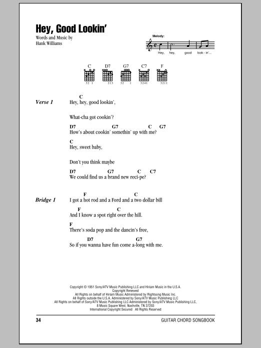 Hey, Good Lookin' (Guitar Chords/Lyrics)