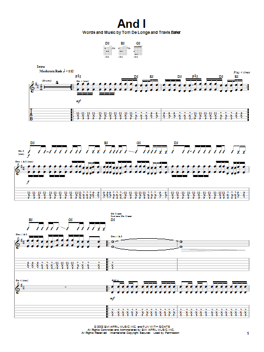 And I (Guitar Tab)