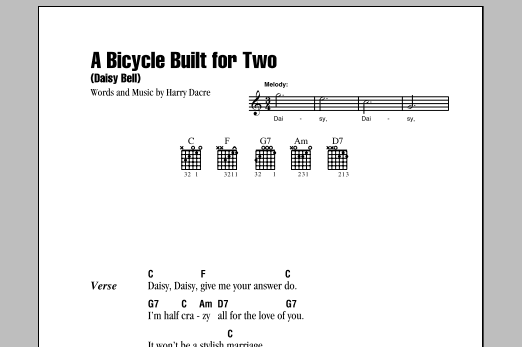 A Bicycle Built For Two (Daisy Bell) Sheet Music