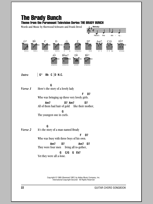 The Brady Bunch Sheet Music