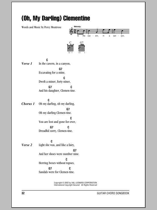 (Oh, My Darling) Clementine Sheet Music