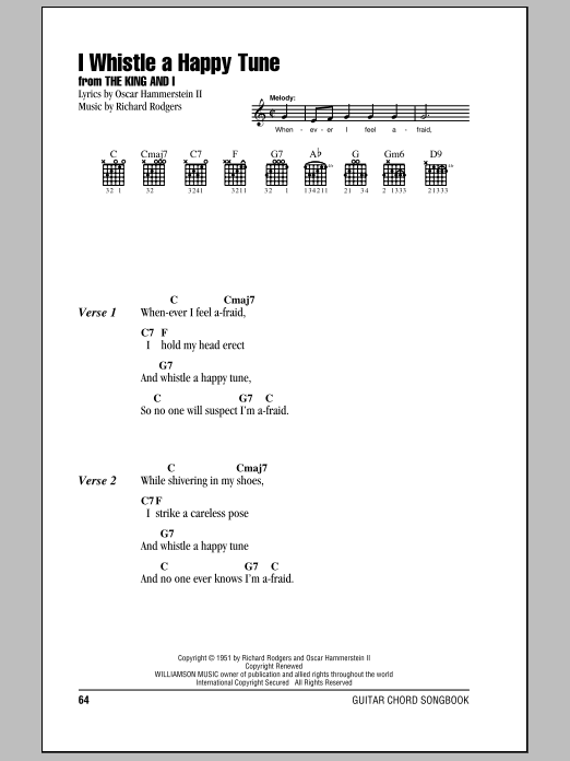I Whistle A Happy Tune by Rodgers & Hammerstein - Guitar Chords ...