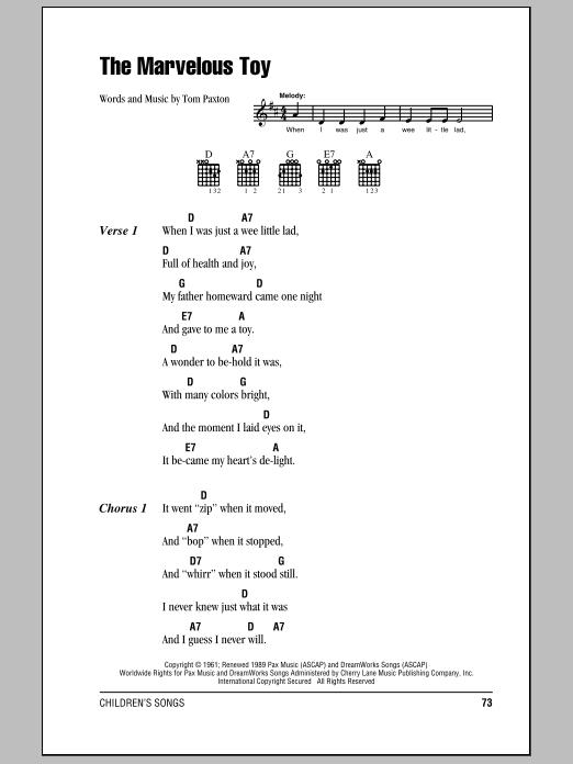 The Marvelous Toy (Guitar Chords/Lyrics)