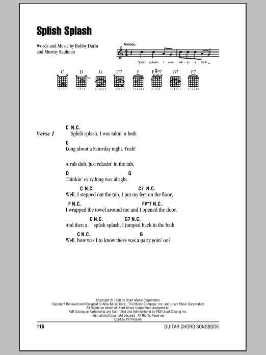 Splish Splash Sheet Music