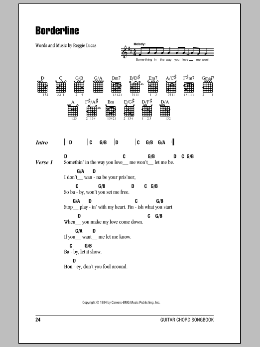 Borderline Sheet Music