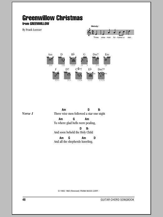 Greenwillow Christmas (Guitar Chords/Lyrics)