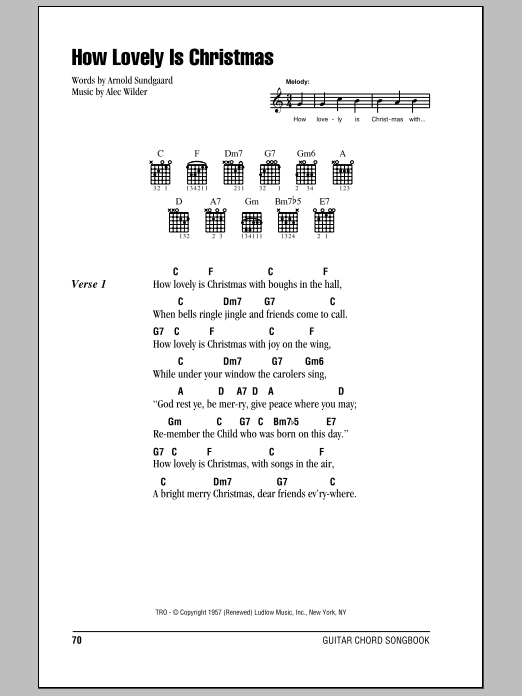 How Lovely Is Christmas Sheet Music