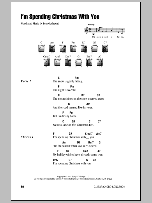 I'm Spending Christmas With You Sheet Music