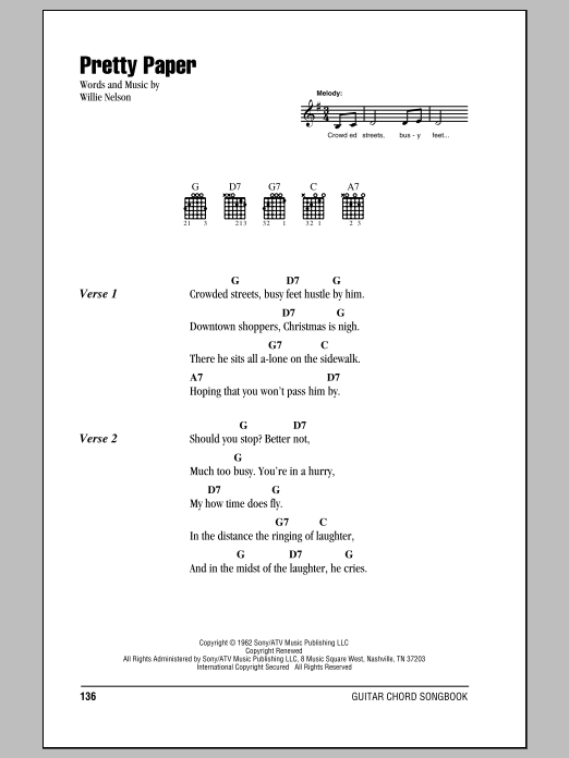 Pretty Paper Sheet Music