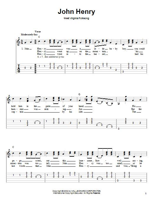 John Henry Sheet Music